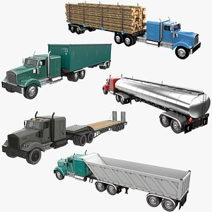 Truck Trailer Collection 4 3D