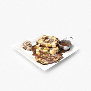 matcha banana pancakes model
