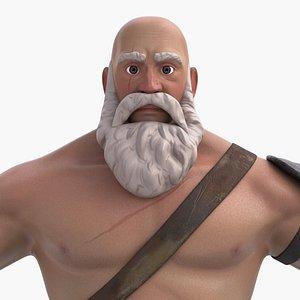 3D viking character man