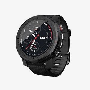 Smart watch Amazfit Stratos 3 3D model