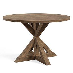 3D Leonila Trestle Dining Table