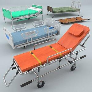 hospital beds 3D model