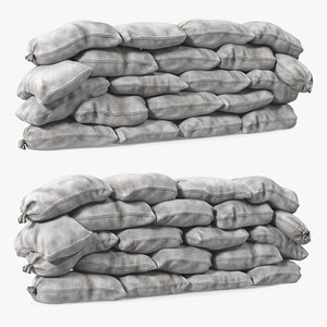 3D Polypropylene Sandbag Barricade Dirty