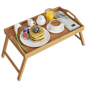 Tray With Breakfast 3D