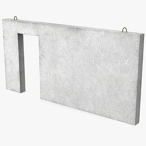 concrete panel door 3D model