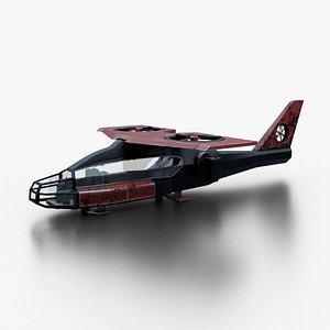 sci-fi helicopter model