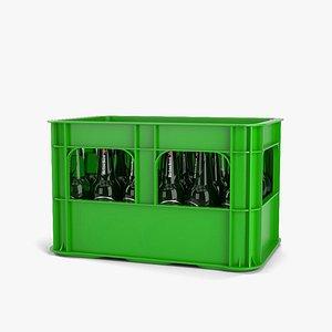 3D beer crate model