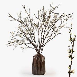 3D branch vase model