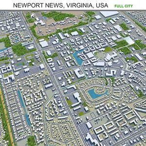 3D Newport News Virginia USA model