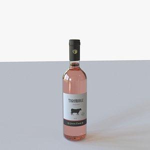 bottle wine glass model