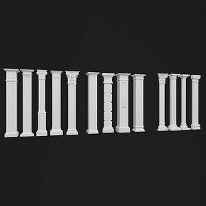 decorative column 3D