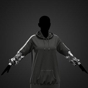 Female outfit Marvelous Designer project 3D model