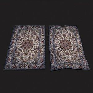 Persian Carpet Design Four 3D