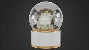 snowglobe snow globe 3D model