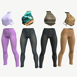 3D Casual outfit - Top and Pants - 4 colors model