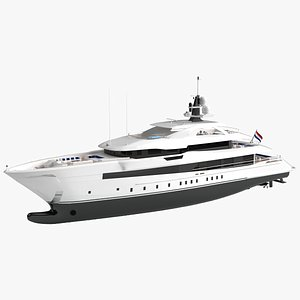 ceres luxury yacht 3D model