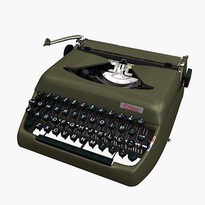 3D erika mod12 vintage typewriter
