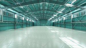 3D hangar building model