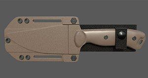 3D kabar becker knife model