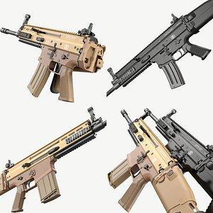 3D model FN SCAR-H and SCAR-L Bundle
