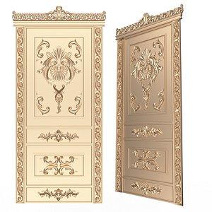 3D Carved Door Classic 02