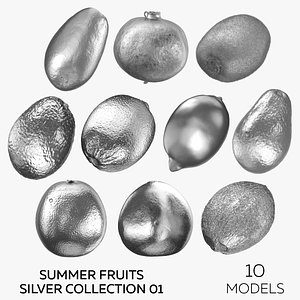 Summer Fruits Silver Collection 01 - 10 3D model