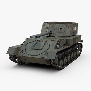 3D ww2 zsu 37 gun