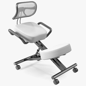 3D Ergonomic Kneeling Chair with Back Support
