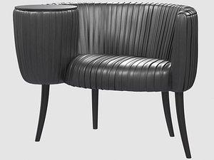 3D model souffle cocktail chair onyx