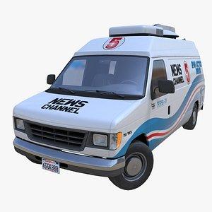 American generic newsvan PBR 3D
