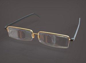 spectacles glasses 3D model