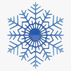 3D Snow Flake 2 model