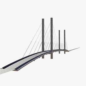 3D cable-stayed bridge
