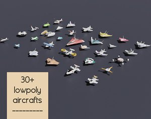 lowpoly aircrafts pack 3D model