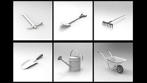 3D Garden Tools Collection