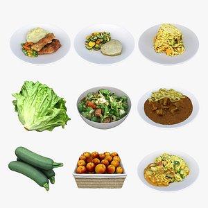 mixed food 3D model