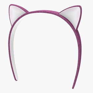headband rabbit head 3D model