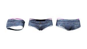 3D Over Bikini Shorts model