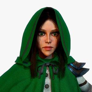 Girl Assassin 3D model