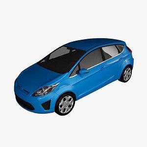 3D fiesta 2011 5-doors model