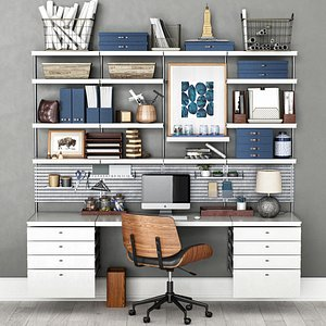 3D Office workplace N1