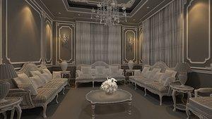 3D classic guests room model
