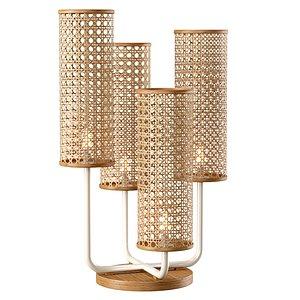 3D Viliam rattan table lamp VR12
