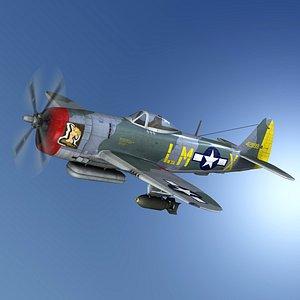 Republic P-47M Thunderbolt - Josephine 3D