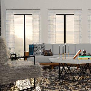 living livingroom room 3D model