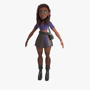 3D Girl package full body and 6 haircuts