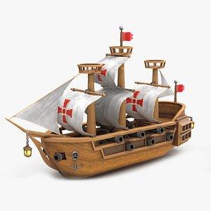 Cartoon Ship V2 3D