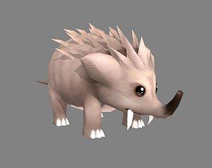 shrew hedgehog 3D model