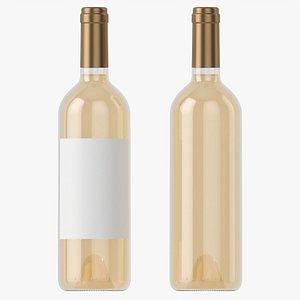 Wine bottle mockup 02 3D model