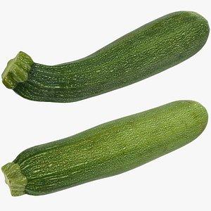 3D zucchini set